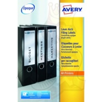 Avery Lever Arch Filing Labels 200x60mm L7171-25 (100 Labels)