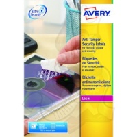 Avery Security Label AntiTamper 63x30mm L6114-20 (540 Labels)