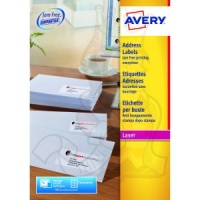 Avery QuickPEEL Laser Address Labels 99x34mm L7162-250 (4000 Labels)