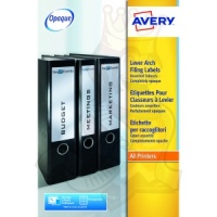 Avery Lever Arch Filing Labels 200x60mm J7171A-25 (80 Labels)
