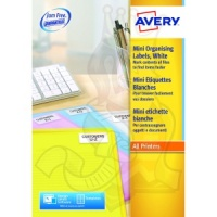 Avery Mini Laser Labels 46x11mm White L7656-100 (8400 Labels)