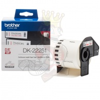 Brother DK22251 Red/Black on White Continuous Paper Tape